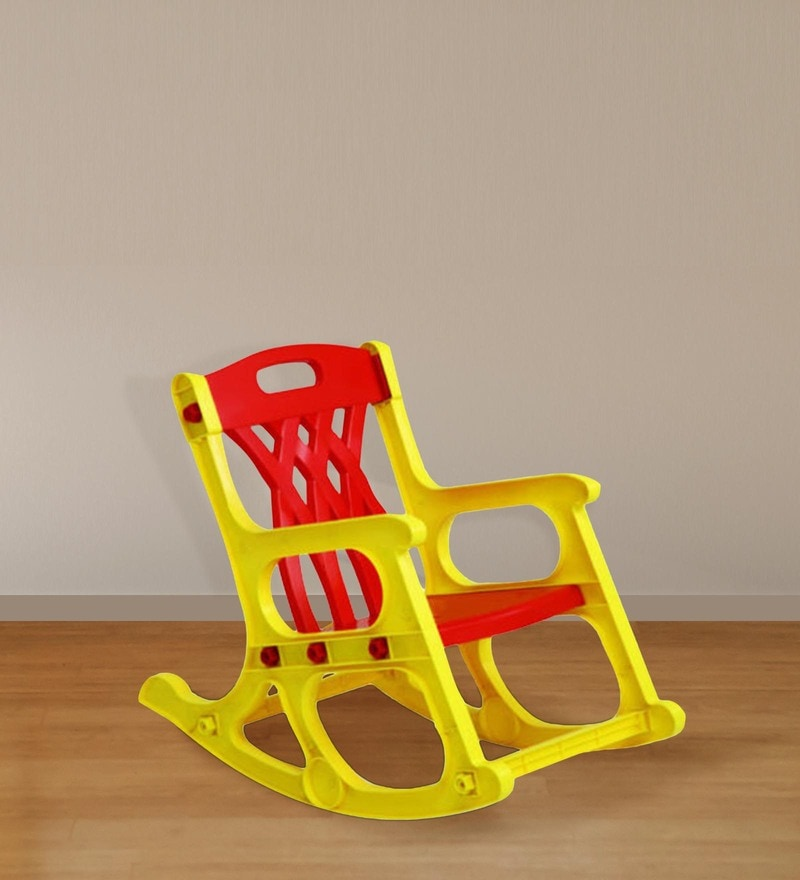 Jungle Kids Chair in Yellow & Red Colour by Nilkamal