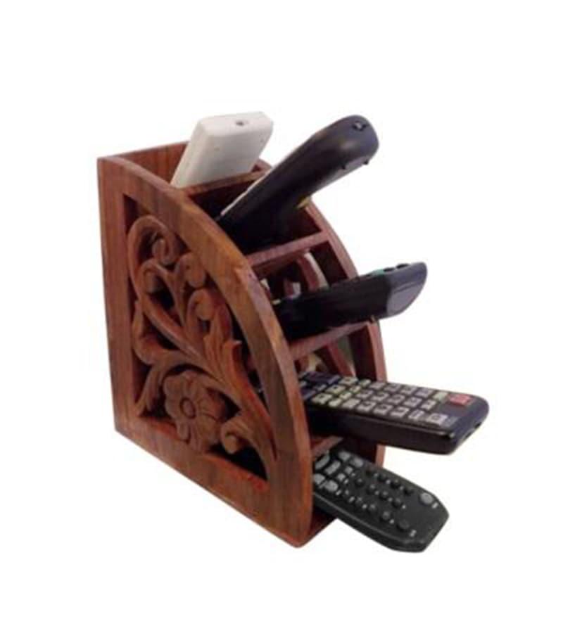 Jupiter Gifts & Crafts Wooden Brown Remote Stand