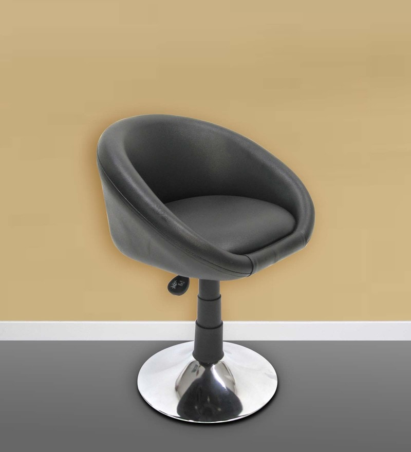 Jupiter Small Black Bar Chair by Chromecraft