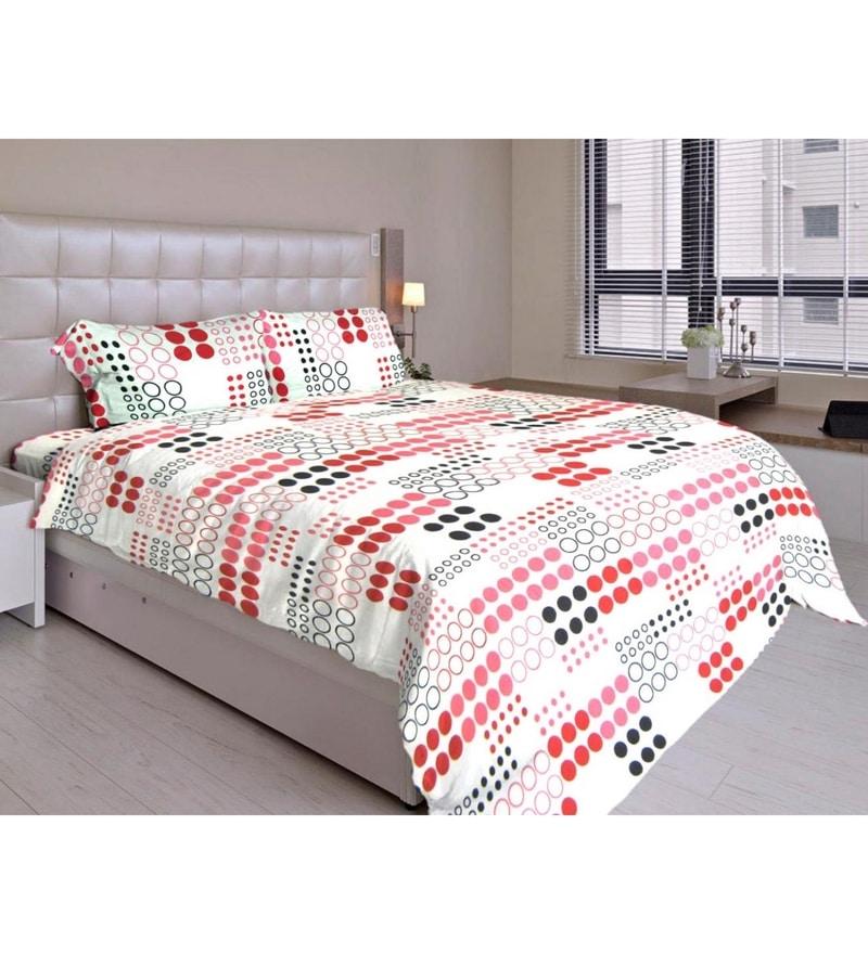 Multicolour Cotton Queen Size Bedding Set - Set of 4 by Just Linen