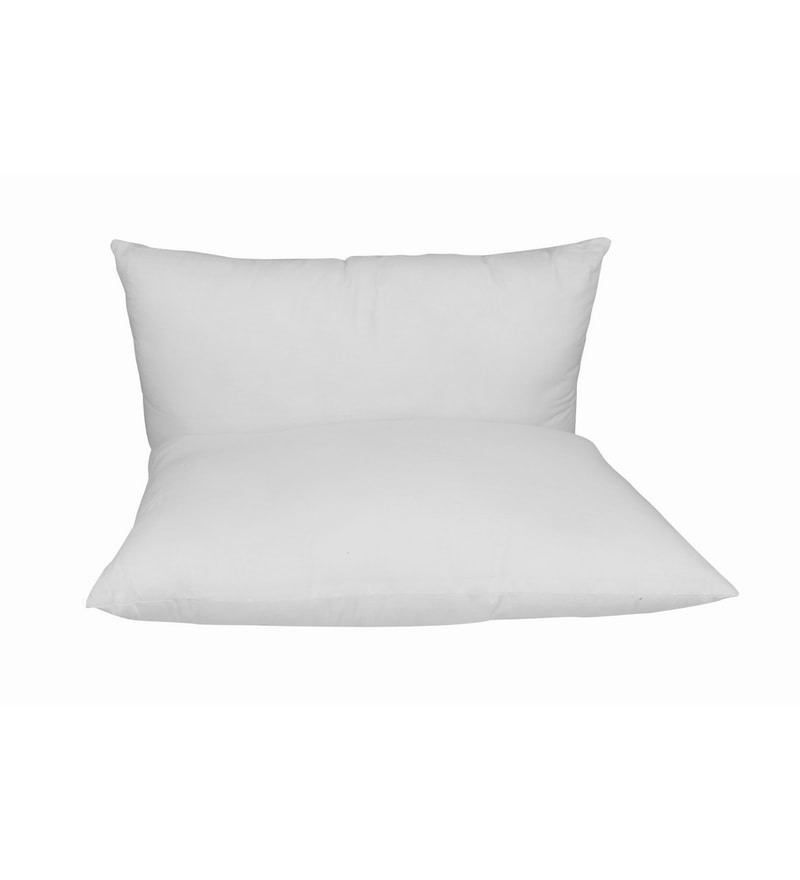 white cotton 18 x 27 pillow insert set of 2 by just linen