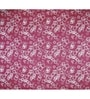 Just Linen Maroon and White Cotton Queen Size Flat Bedsheet - Set of 3