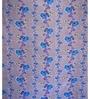 Just Linen Purple and Blue Cotton Queen Size Flat Bedsheet - Set of 3
