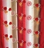 Just Linen Red Fabric Queen Size Comforter
