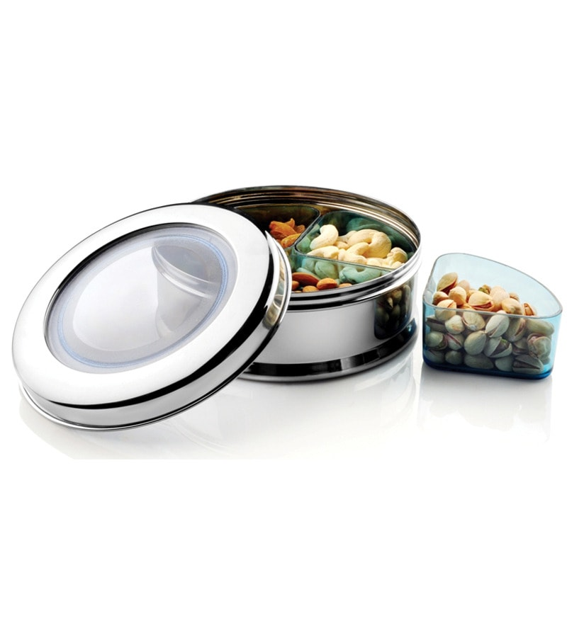 JVL Stainless Steel 6-piece Snack and Fruit Bowl Set
