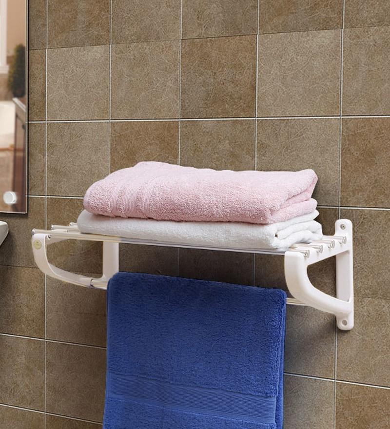 Jvs Ivory Aluminium Bathroom towel rack
