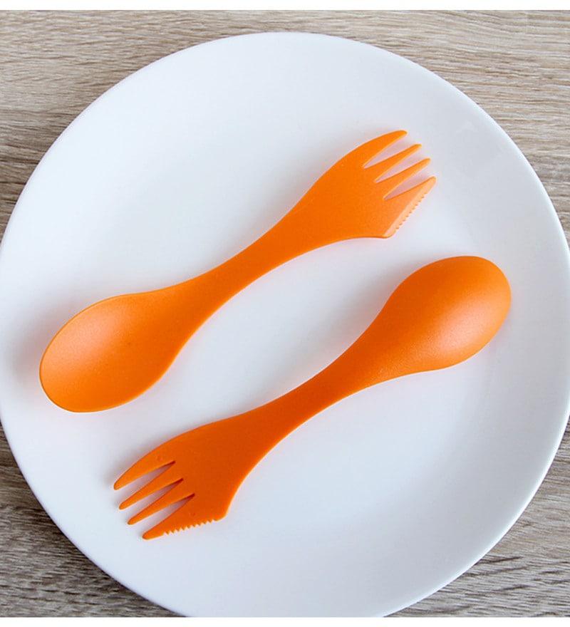 Jvs Orange Polycarbonate Sporks - Set of 18