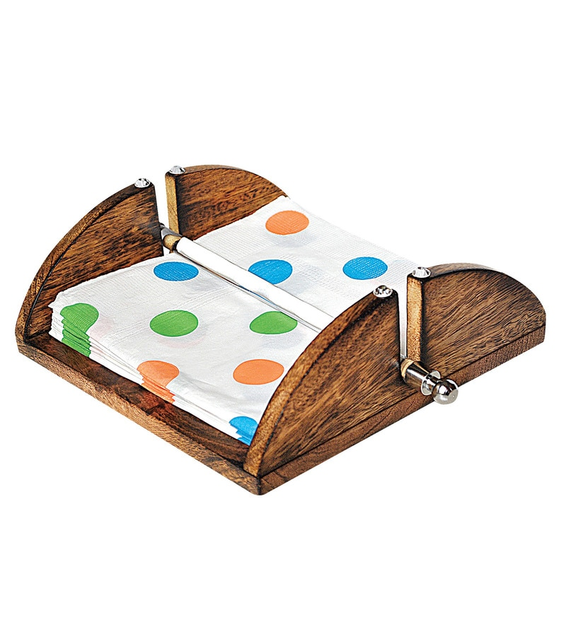 Jvs Roll on Wooden Napkin Holder