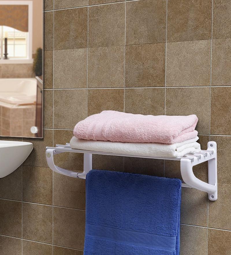 Jvs White Aluminium Towel rack