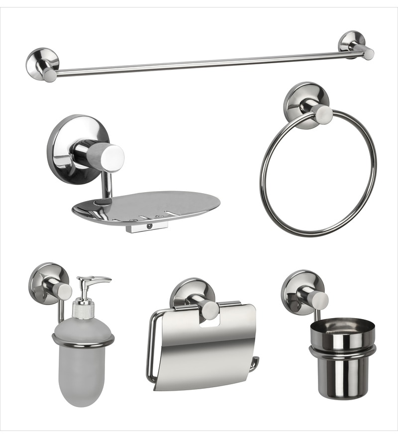 Jwell Stainless Steel Bath Set Combo 2 - Sigma Series