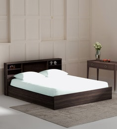 Kaito King Size Bed With Box Storage In Wenge Finish ...