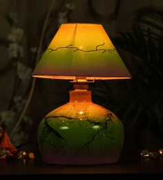 Kalaplanet Multicolour Fabric Table Lamp - 1602068