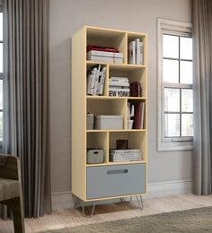 Kazou Bookshelf In Grey Light Oak Finish