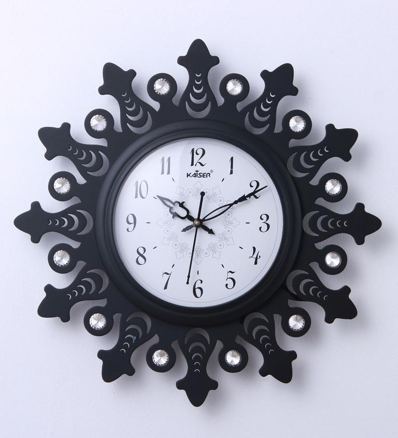 Buy Kaiser Black Wood 14 x 19 x 14 Inch Wall Clock Online