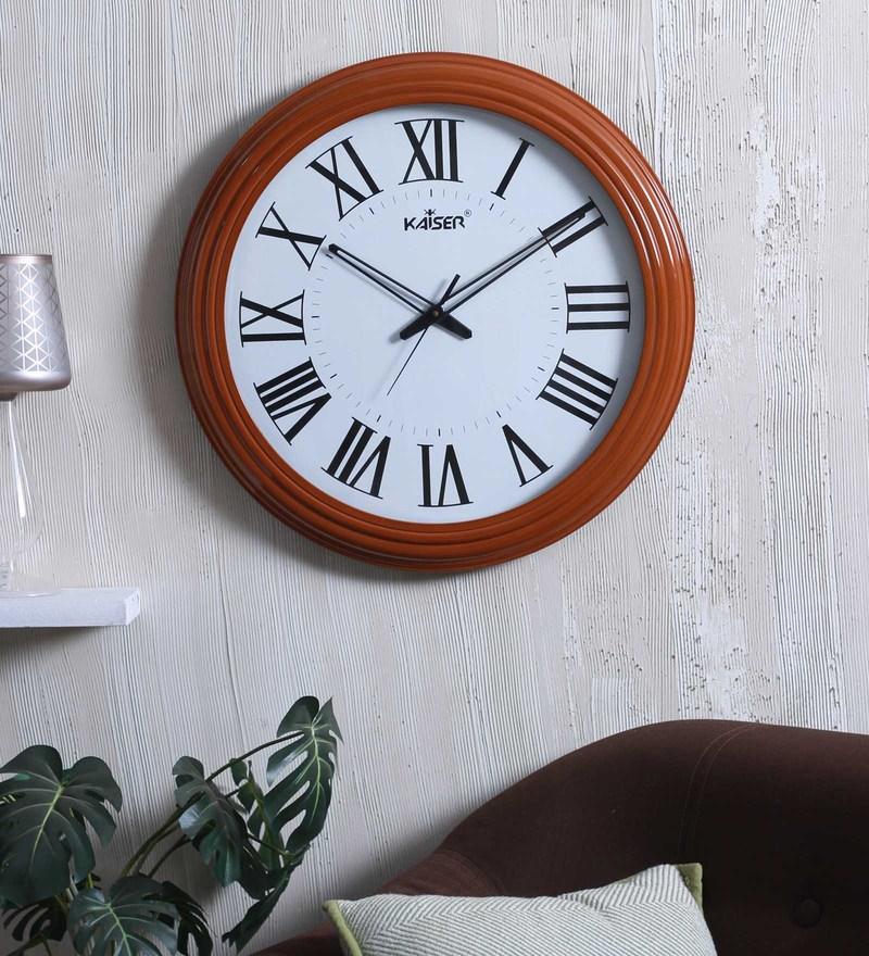 Kaiser Brown Wood 19.8 x 2.1 x 19.8 Inch Wall Clock