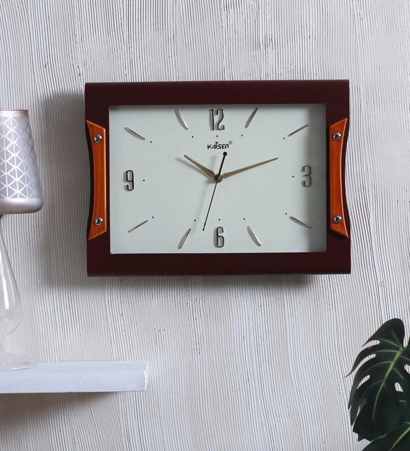 Kaiser Cola Wood 10.2 x 2.1 x 13 Inch Wall Clock