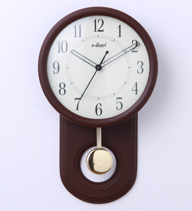 Buy Kaiser Cola Wood 9 x 25 x 14 Inch Wall Clock Online Indian