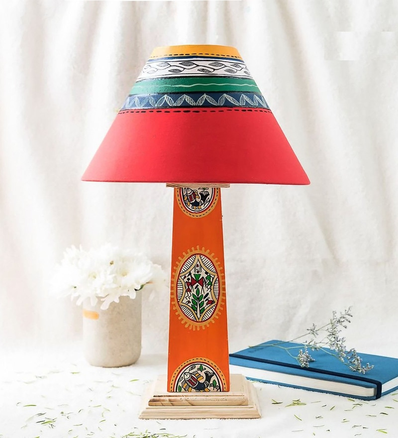 Multicolour Fabric Table Lamp by Kalaplanet