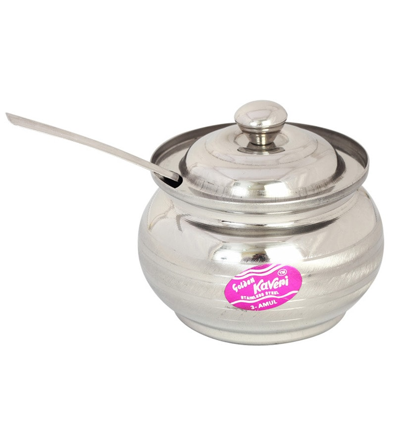 Kaveri Silver 350 Ml Oil & Ghee Container