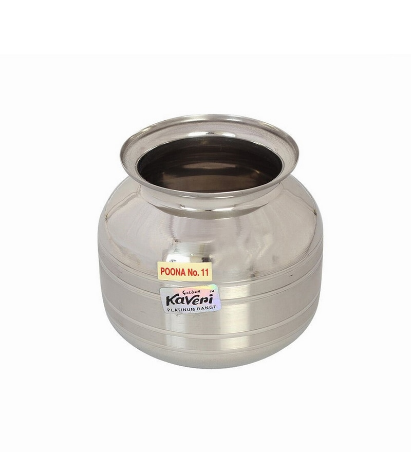 Kaveri Stainless Steel Lota Water Containers 1 L Poona Kundi