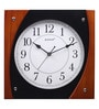 Black Wooden 12.8 x 12.8 Inch Wall Clock by Kaiser
