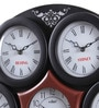 Black Wooden 19.3 Inch Round Wall Clock by Kaiser