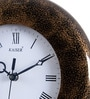 Black Wooden 9.1 Inch Round Wall Clock by Kaiser
