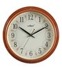 Brown Wooden 10.8 Inch Round Wall Clock by Kaiser