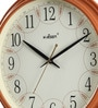 Kaiser Brown Wooden 10.8 Inch Round Wall Clock