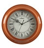 Brown Wooden 11.8 Inch Round Wall Clock by Kaiser