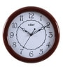 Brown Wooden 11 Inch Round Wall Clock by Kaiser