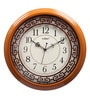 Brown Wooden 15.7 Inch Round Wall Clock by Kaiser