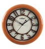 Brown Wooden 9.1 Inch Round Wall Clock by Kaiser