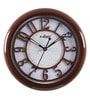 Kaiser Walnut Wooden 9.1 Inch Round Wall Clock