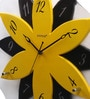 Yellow & Black Glass 15.9 Inch Round Wall Clock by Kaiser
