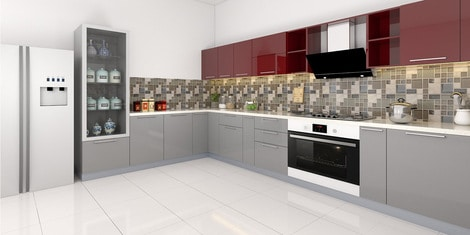Kelsey U Shaped Modular Kitchen Designed In Bwr Ply