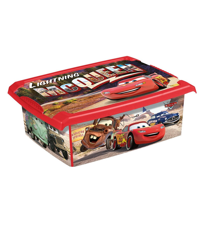 Keeeper Cars Plastic 10 Litres Fashion Box