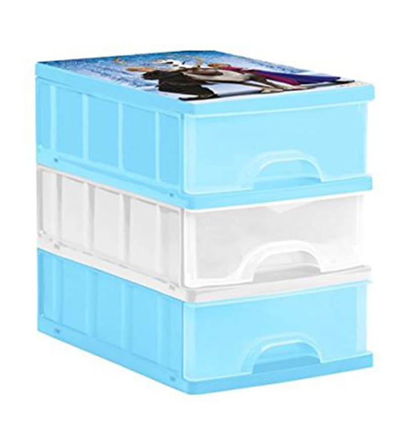 Keeeper Frozen Plastic Drawer Boxes - Set of 3