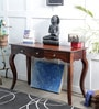 Katherine Console Table in Provincial Teak Finish by Amberville