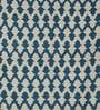 KEH Blue & Ivory Wool 72 x 48 Inch Area Rug