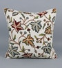 Multicolour Cotton & Wool 20 x 20 Inch Chinar Cushion Cover by KEH
