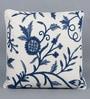 KEH Multicolour Cotton & Wool 20 x 20 Inch Heavy Flower Handmade Cushion Cover