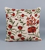 Multicolour Cotton & Wool 20 x 20 Inch Spring Cushion Cover by KEH