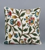 Multicolour Cotton & Wool 20 x 20 Inch Handmade Cushion Cover by KEH