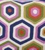 KEH Multicolour Wool & Cotton Embroidery 20 x 20 Inch Artistic Handmade Chain Stitch Cushion Cover