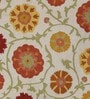 Multicolour Wool Embroidered Floral Area Rug by KEH