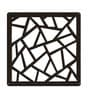 Wenge Acrylic with Wooden Lamination Flowery Room Divider by Planet Decor