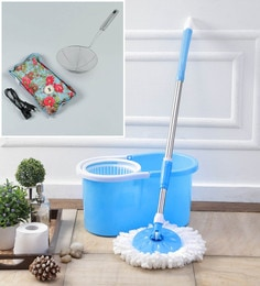 Kingsburry Plastic Blue Mop With Free Heating Pad & Deep Fry Stanier