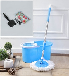 Kingsburry Plastic Blue Mop With Free Heating Pad & Gas Toaster
