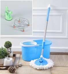 Kingsburry Plastic Blue Mop With Free Juicer & Gas Trolley